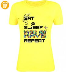 Eat sleep rave repeat party dance Womens T-Shirt XX-Large (*Partner-Link)