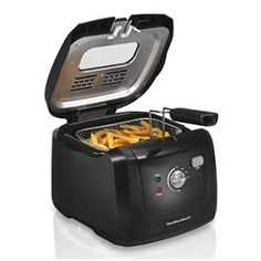 Hamilton Beach Deep Fryer with Cool Touch 2 Liter Oil Capacity 35021 Fryers Bar Small Kitchen Appliances, Kitchen Gadgets, Kitchen Tools, Kitchen Supplies, Kitchen Stuff, Kitchen Small, House Appliances, Cooking Appliances, Smart Kitchen