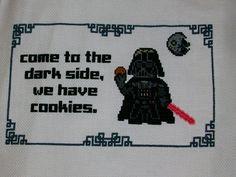 Darth Vader cookies cross stitch - NEEDLEWORK