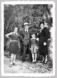 Mario Pan / Giocondo Pan con la moglie Ida Rossato ed i figli Mario e Maria anni 30 - Quando eravamo i ragazzi del Triangolo Verde