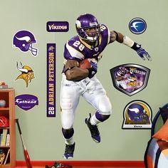 Adrian Peterson Fathead (Purple Jersey). Click to order! - $99.99