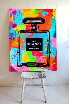 hippie room decor 696439529861093246 - Tableau pop art chanel 5 byoohlala Source by dbrndiane Cute Canvas Paintings, Small Canvas Art, Diy Canvas Art, 3 Piece Canvas Art, Colorful Paintings, Canvas Ideas, Design Pop Art, Art Chanel, Chanel Perfume