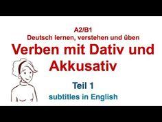 German Grammar - Verben mit Dativ und Akkusativ A2,B1| Verben mit zwei Objekten | TEIL 1 - YouTube