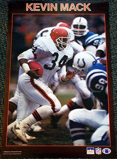 Rare KEVIN MACK Cleveland Browns Vintage Original 1988 Starline MLB Poster
