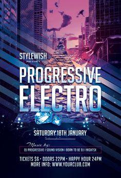 Dark Electro Flyer Stylewish Studio Tags Alternative Black Club