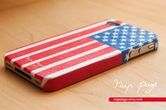 iphone case , iphone 4s case , iphone 4  USA flag. $19.90, via Etsy.
