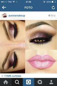 Olho rosa com roxo