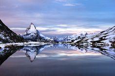 The Matterhorn in Zermatt Switzerland
