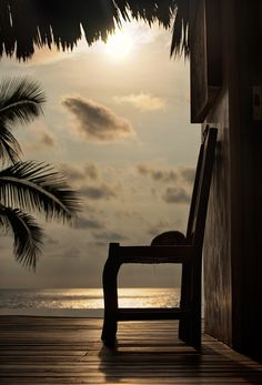 I wait for you, dear sunset - The sun is beginning to set in Troncones, Mexico.   I loved the sense of peace and repose that I attempted to capture in this image.