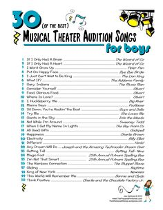28 Best Musical Theatre Auditions images | Audition songs