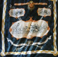 Authentic Vintage Hermès Silk Jacquard Scarf Louveterie Royale RARE