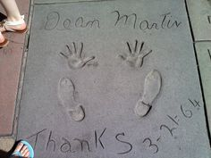 Dean Martin (Chinese Theatre - Walk of the stars)