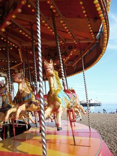 Carousel at the beach. Best of both worlds (for my two year old!)