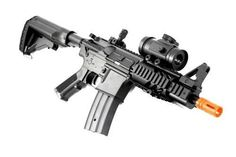 2011 315-FPS Airsoft Rifle M16/M4 Style Red Dot Version 1:1 Double Eagle CQB 614 AEG Full Auto Rifle Electric Airsoft Gun Airsoft Rifle Gun Assault Rifle Gun by Double Eagle. $84.95. Are you tired of cocking a gun back for every shot you take? Don't you get tired of doing so? Well now you can get the FULL AUTO ELECTRIC CQB 614!! Also includes a RED DOT SIGHT!