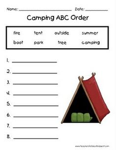 free camping printables for end of school year