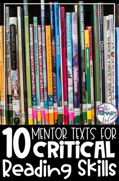 Using Mentor texts to assist in teaching reading skills is a fun way to teach 10 reading skills in 10 weeks with the book ideas and digital or printable graphic organizers. Perfect for your upper elementary students. Reading Lessons, Reading Skills, Teaching Reading, Guided Reading, Math Lessons, Learning, Teaching Main Idea, Teaching Themes, Close Reading