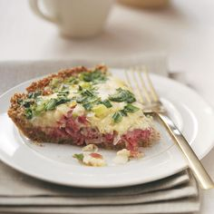 Reuben Quiche Recipe -Deli flavors come together in this one-of-a-kind quiche. Serve a little Thousand Island dressing on the side for that authentic Reuben taste. —Barbara Nowakowski, North Tonawanda, New York