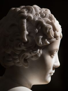 An early 19th Century marble bust of young Marcus Aurelius