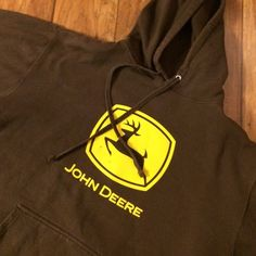 Mens John Deere Sweatshirt. (But it was mine!) ❤️ Perfect condition hooded with a drawstring pockets to warm your hands in the front. John Deere  Tops Sweatshirts & Hoodies