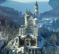 Neuschwanstein castle, Baviera, Germany