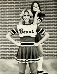vintage everyday: B&W Photographs of Cheerleaders in 1960s - 70s