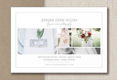 Open House Flyer Bridal Show Templates for by designbybittersweet