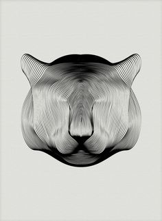 Animals Drawn with Moiré Patterns