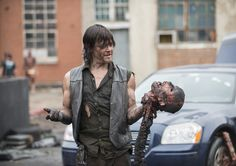 Norman is just having too much fun. Season 2, Episode 7 Photo by Gene Page/AMC #normanreedus #thewalkingdead