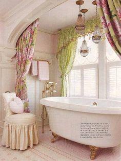 Shabby Chic Bathroom...so feminine and romantic!