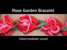 Rainbow Loom® ROSE GARDEN Bracelet. You Tube.