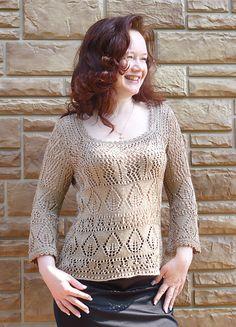 Ravelry: #07 Square-Neck Pullover pattern by Verena Design Team