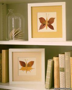 fall kid craft- leafy butterflies