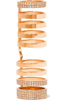 Repossi | Berbère 18-karat rose gold diamond ring | NET-A-PORTER.COM