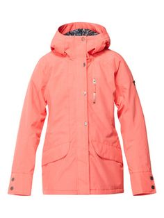 1c7e689d0c12 Roxy Womens Andie Jacket - Hot Coral Snowboarding Style, Piece Of Clothing,  Coats For