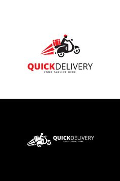 Quick Delivery Logo Logo Template - Delivery Food - Ideas of Delivery Food - Quick Delivery Logo Design is a professional Modern clean and elegant logo can be used for business related to the Creative food Shop Delivery mail Beer Logo Design, Restaurant Logo Design, Circle Logo Design, Minimal Logo Design, Food Logo Design, Logo Desing, Identity Design, App Design, Brand Identity
