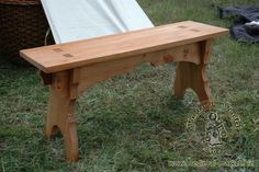 A bench type 2 . Medieval Market, A bench type 2
