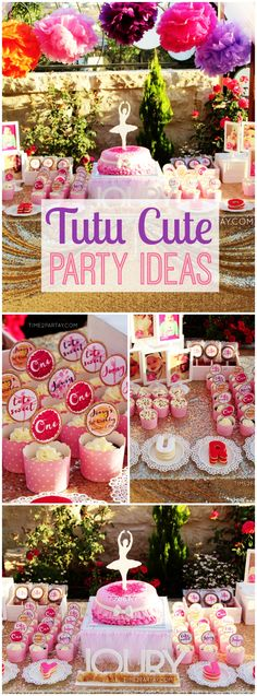 This colorful first birthday party is tutu cute! See more party ideas at CatchMyParty.com!