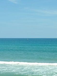 Daytona Beach FL. With very little rain the Atlantic ocean looks like the Caribbean!