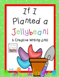 If I Planted a Jellybean: A Creative Writing Unit! I love this idea to go along with Jack and the Beanstalk. 1st Grade Writing, Kindergarten Writing, Teaching Writing, Writing Activities, Classroom Activities, Teaching Ideas, Pre Writing, Classroom Ideas, Writing Workshop