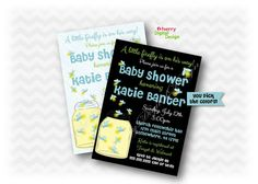 FireFly Baby Shower Invitations  Printed or Printable Baby