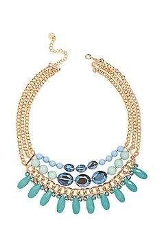 Talbots - Bead and Teardrop Multi-Chain Necklace | Jewelry |