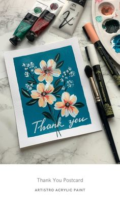 Just as you want your cards to be as unique as possible, so too should your message or note be. And sometimes that means adding something extra special, such as brush strokes! Artistro acrylic paint pens do just that.