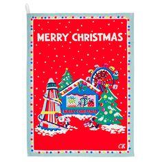 Christmas Tea Towel | Spotted in the press | CathKidston #CKCrackingChristmas Christmas Hanukkah, Christmas Mood, Vintage Christmas, Merry Christmas, Christmas Gifts, Xmas, Holiday, Cath Kidston Christmas, English Christmas
