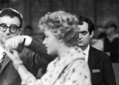 Stanley Kubrick, Peter Sellers, and Shelley Winters on the set of 'Lolita' (1962).