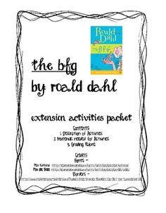 The BFG by Roald Dahl is a classic novel which children of all ages enjoy! It's an endearing and funny novel about a kind giant and his friend Soph. Bfg Roald Dahl, Roald Dahl Books, 6th Grade Reading, Guided Reading, Reading Resources, Reading Activities, The Bfg Book, Kids Book Club, Book Study