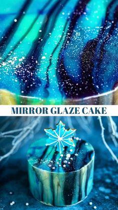 Cake Decorating Frosting, Cake Decorating Videos, Cake Decorating Techniques, Cookie Decorating, Mirror Glaze Icing, Easy Mirror Glaze Recipe, Fun Baking Recipes, Easy Cake Recipes, Realistic Cakes