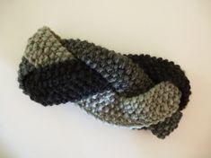 Grey Handknitted Braided Headband  ~ Crochet Addict UK Thursday's Handmade Love Week 83 ~ Theme: Earwarmers ~ includes links to #free #crochet patterns