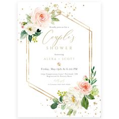 Couples Floral Shower Invitation | Forever Your Prints