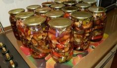 International Recipes, Health Diet, Preserves, Mason Jars, Food And Drink, Canning, Vegetables, Russian Recipes, Turmeric