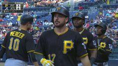 Joyce treats himself to three-run birthday bash Thing 1, Pittsburgh Pirates, Birthday Bash, Pitch, Atlanta, Captain Hat, Treats, Running, Sweet Like Candy